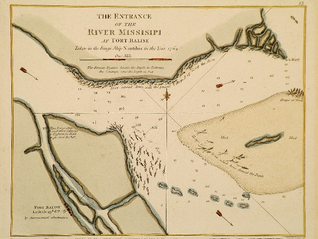 Jefferys Mouth of Mississippi 1764.