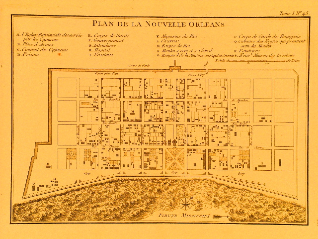Bellin New Orleans 1764.