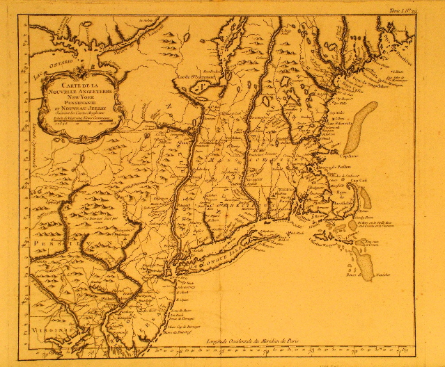 Bellin New England 1764.