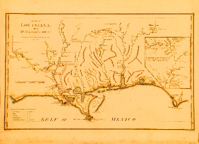D'Anville Louisiana 1788.
