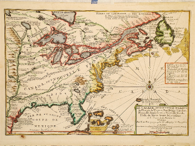 De Fer North America 1705.